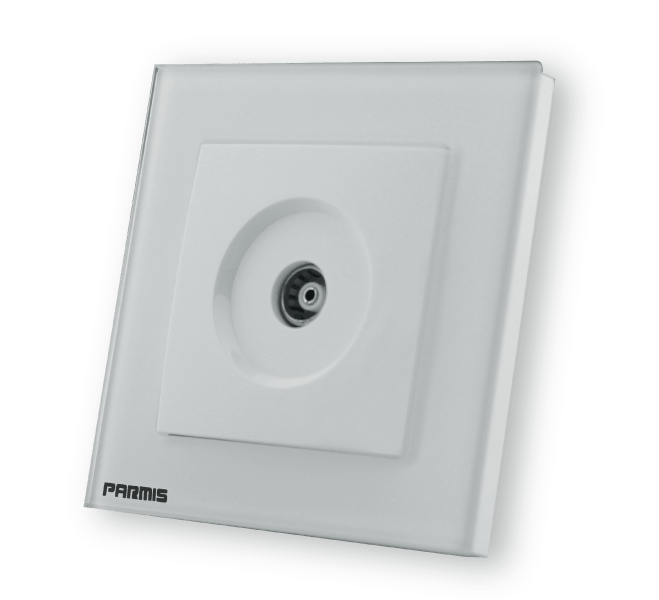 پریز آنتن سفید پارمیس | کلیدهای لمسی پارمیس