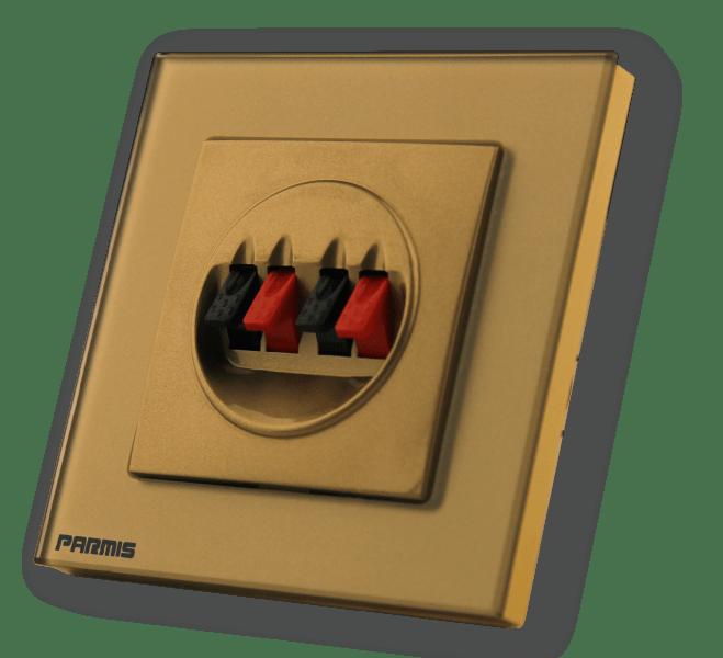 پریز استریو پانل گلاس محصول جانبی | پارمیس تولید کننده کلید تاپ و هوشمند