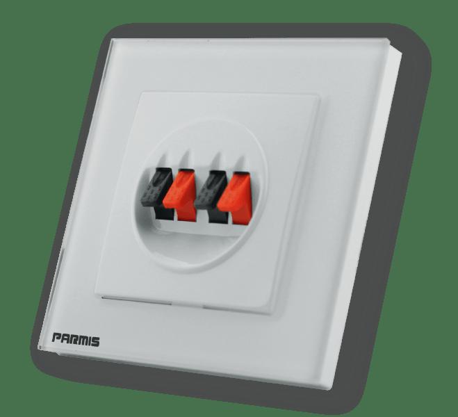 پریز استریو پانل گلاس محصول جانبی پارمیس | کلیدهای لمسی پارمیس