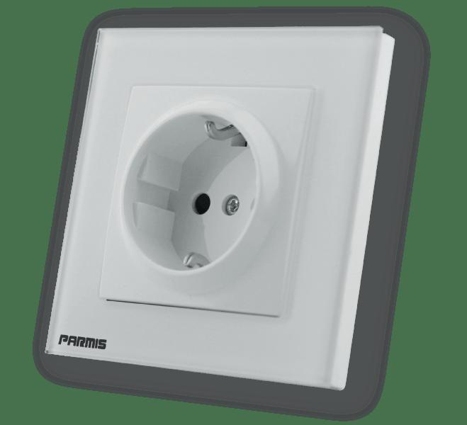 پریز برق سفید | خانه هوشمند پارمیس