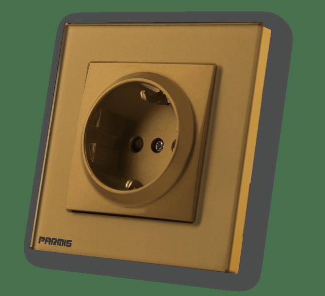 پریز تلفن طلائی | پارمیس تولید کننده کلید تاپ و هوشمند