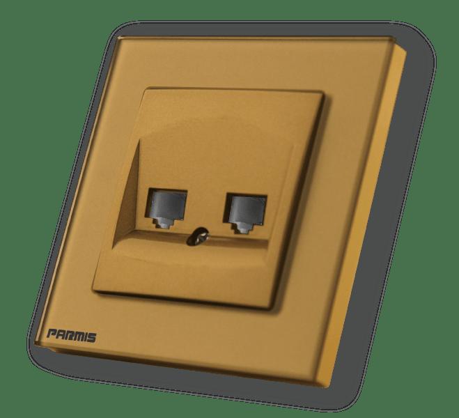 پریز شبکه طلائی پارمیس | پارمیس تولید کننده کلید لمسی