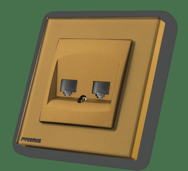 پریز شبکه طلائی | پارمیس تولید کننده کلیدهای لمسی هوشمند