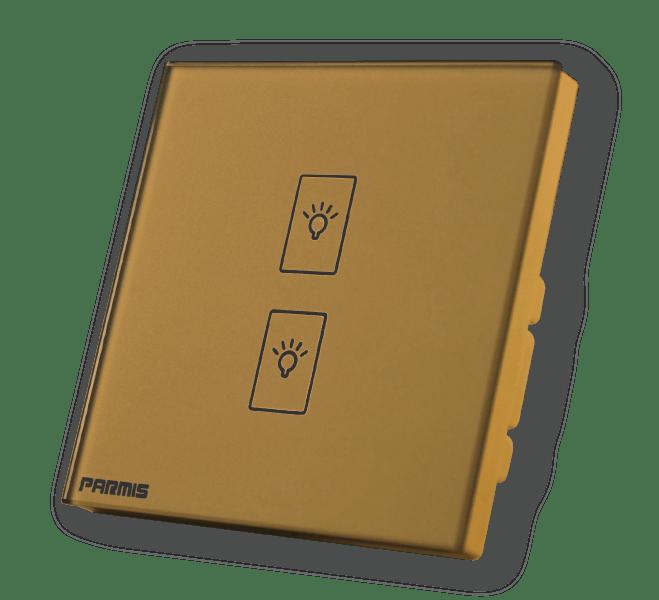 کلید لمسی دو پل طلائی | کلید لمسی | کلید لمسی دو پل