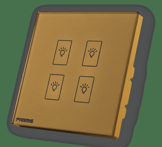کلید لمسی چهار پل طلائی | کلید لمسی پارمیس