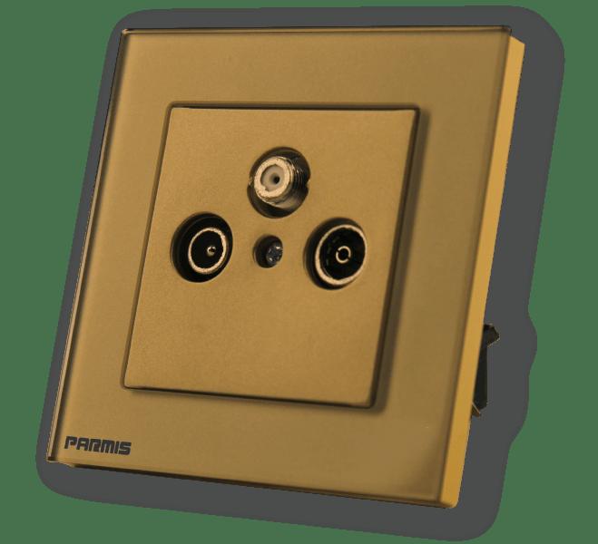 Tv fm sat محصول جانبی طلایی | پارمیس تولید کننده کلید لمسی